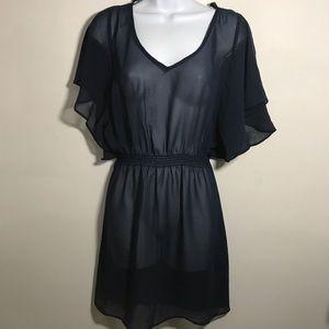 Navy Blue sheer dress